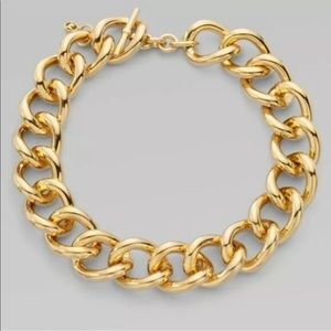 Michael Kors Gold Chunky Chain Link Necklace